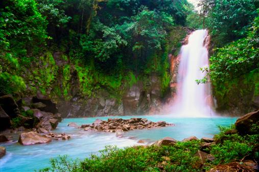 Central America「Waterfall in tropical rainforest」:スマホ壁紙(16)