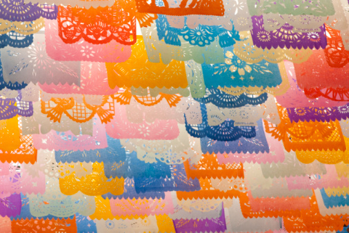 """Mexico「colorful tissue paper cut-out flags """"papel picado""""」:スマホ壁紙(3)"""