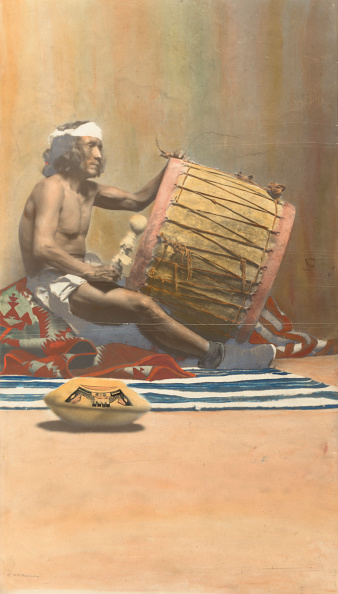 Country Music Academy「Hopi Musician Playing Drum」:写真・画像(15)[壁紙.com]