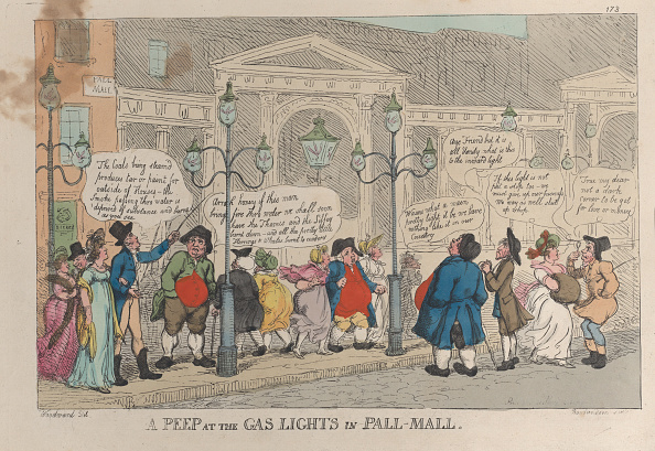 Central London「A Peep At The Gas Lights In Pall-Mall」:写真・画像(15)[壁紙.com]