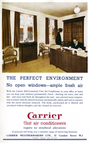 Home Decor「Air conditioning in the workplace - man seated at his desk in the office.」:写真・画像(8)[壁紙.com]