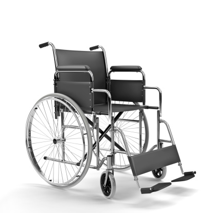 Dedication「Black Wheelchair on White Background (XXXL)」:スマホ壁紙(10)
