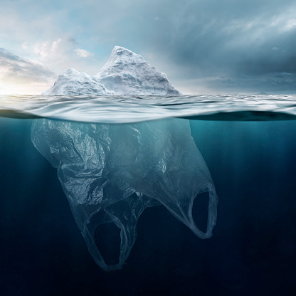 Climate Change「Iceberg Plasticbag」:スマホ壁紙(10)