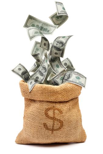 American One Hundred Dollar Bill「money bag」:スマホ壁紙(8)
