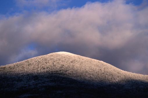 グリーン山脈「Mt. Abraham Covered in Snow」:スマホ壁紙(5)