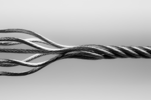 Wire Rope「Wire rope. SteelTwisted Connection Cable Abstract Strength Concept」:スマホ壁紙(1)