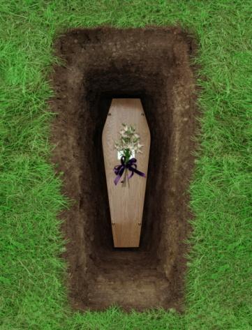Death「Coffin in grave, overhead view」:スマホ壁紙(4)