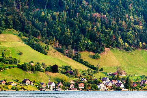 Escarpment「Beautiful village on the shore of Lucerne lake in Switzerland」:スマホ壁紙(15)