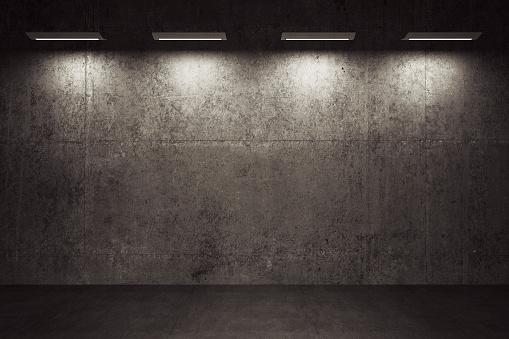Basement「Empty room, concrete walls and floor」:スマホ壁紙(9)