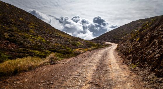 Dirt Road「Portugal, Street to Ponta Ruiva」:スマホ壁紙(8)
