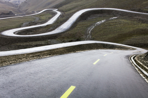 Hairpin Curve「Mountain road in Tibet, China」:スマホ壁紙(11)