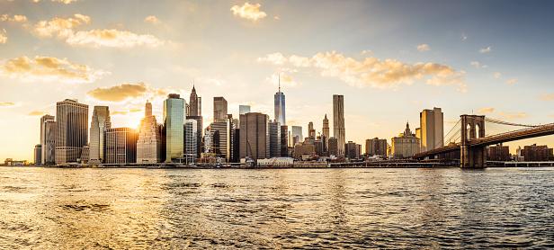 Manhattan - New York City「Manhattan skyline at sunset」:スマホ壁紙(8)