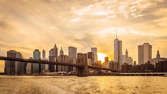 Midtown Manhattan「Manhattan skyline at sunset」:スマホ壁紙(14)