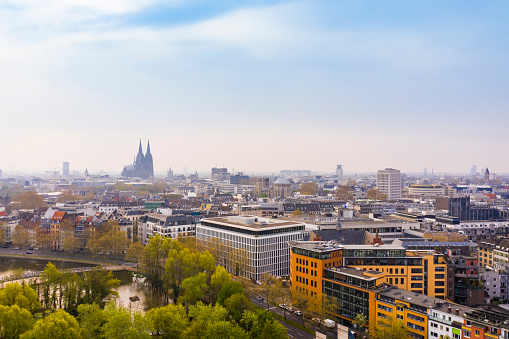 Cathedral「Cologne City Center with Cologne Cathedral in the distance」:スマホ壁紙(10)