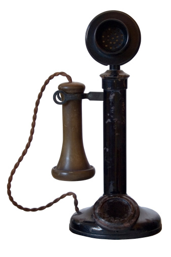 Cable「Old Antique Telephone (with path)」:スマホ壁紙(10)
