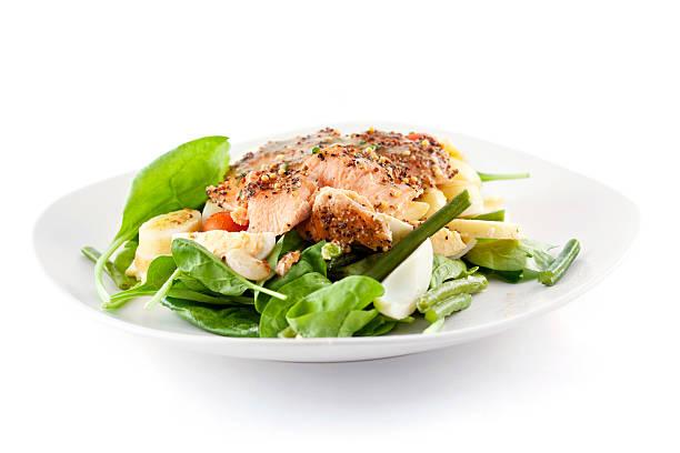 Roasted Salmon Salad:スマホ壁紙(壁紙.com)