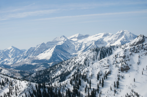 Utah「Snow covered mountains, Wasatch Mountains, Utah, United States」:スマホ壁紙(7)