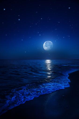 Supernova「Rising moon over sea」:スマホ壁紙(19)