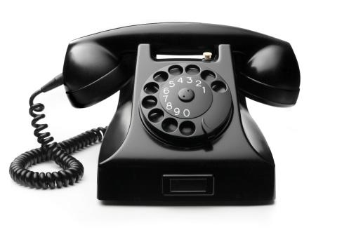 Telephone「Office: Telephone Black Isolated on White Background」:スマホ壁紙(6)