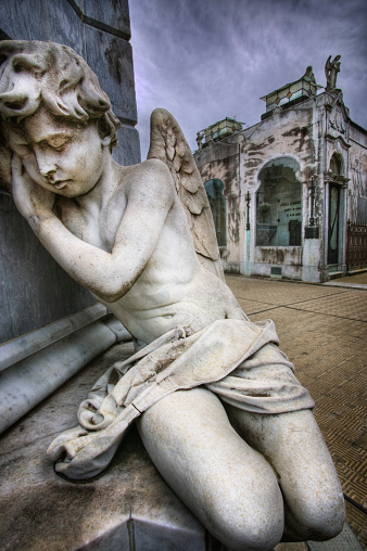 Buenos Aires「Angel Sculpture in Recoleta Cemetery in Buenos Aires」:スマホ壁紙(10)
