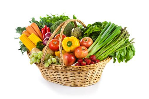 Basket「Fruits and Vegetables in Wicker Basket」:スマホ壁紙(7)