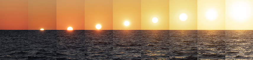 Sunrise - Fort Lauderdale「USA, Florida, Boca Raton, Sequence of Sun coming up above sea」:スマホ壁紙(19)