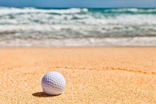 Sand Trap「Golf Ball on Beach」:スマホ壁紙(6)