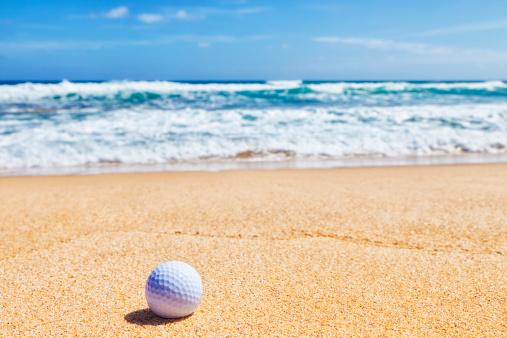 Sand Trap「Golf Ball on Beach」:スマホ壁紙(2)