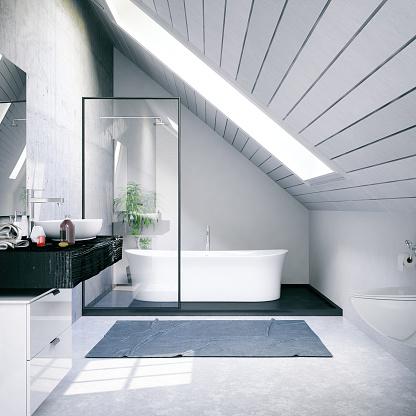 Attic「Loft Bathroom」:スマホ壁紙(14)