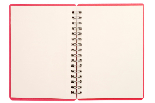 Diary「Blank isolated notebook pages」:スマホ壁紙(16)