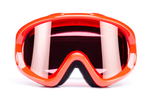 Skiing「Ski goggles, isolated on white background」:スマホ壁紙(8)