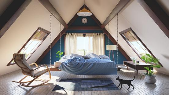 Cool Attitude「Loft attic bedroom concept」:スマホ壁紙(11)