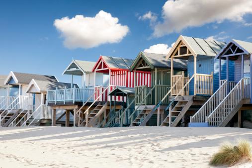 Norfolk - England「Beach huts at Wells」:スマホ壁紙(7)