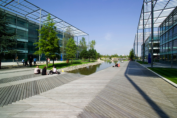 Architecture「Chiswick Business Park interior, London, UK Designed by Richard Rogers Chiswick Business Park is a new sustainable development in West London」:写真・画像(7)[壁紙.com]