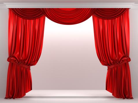 Velvet「3d showcase with red curtain」:スマホ壁紙(3)