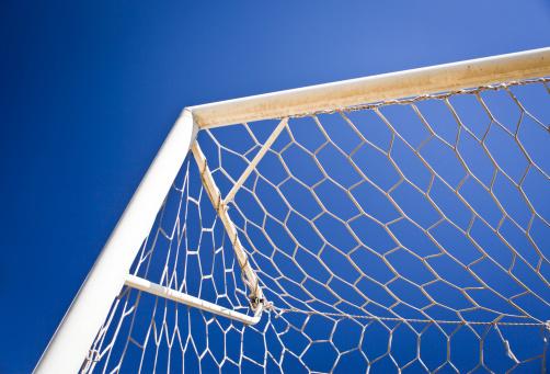 Pole「Soccer Goal Net Against Blue Sky」:スマホ壁紙(9)