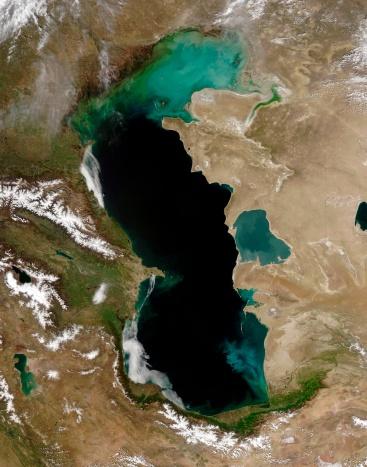 """コーカサス山脈「""""Caspian Sea, satellite image""""」:スマホ壁紙(7)"""
