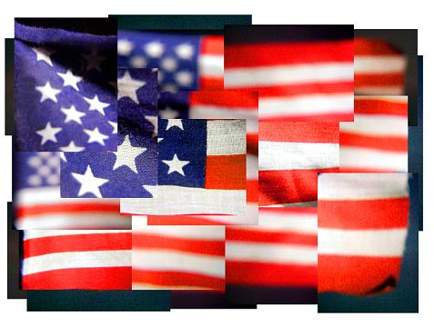 Digital Composite「Manipulated image of US flag」:スマホ壁紙(0)