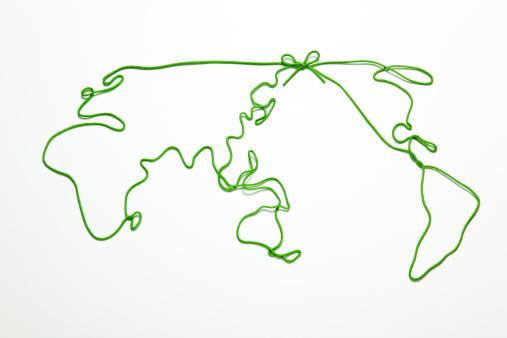 World Map「world map  drawn by string」:スマホ壁紙(10)