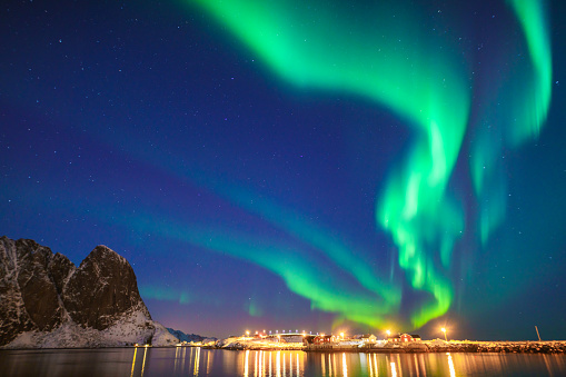 Geomagnetic Storm「Mixed colorful aurora borealis dancing in the sky」:スマホ壁紙(11)