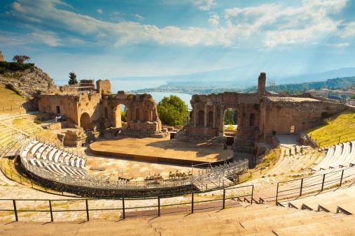 Sicily「The Greek Theater & Mount Etna, Sicily, Italy」:スマホ壁紙(16)