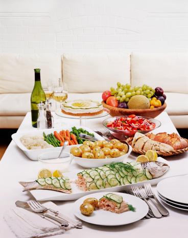 Abundance「Luxury Salmon buffet prepared and ready to eat.」:スマホ壁紙(17)