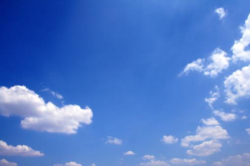 Cumulus Cloud「Deep blue view on a lightly clouded day」:スマホ壁紙(9)