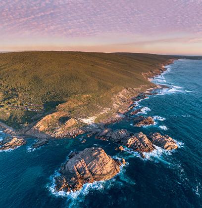 Western Australia「Aerial at Sugarloaf Rock, Western Australia on Sunset」:スマホ壁紙(7)