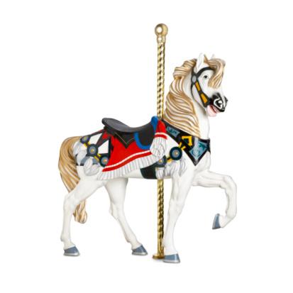 Horse「Carousel horse on white background」:スマホ壁紙(15)