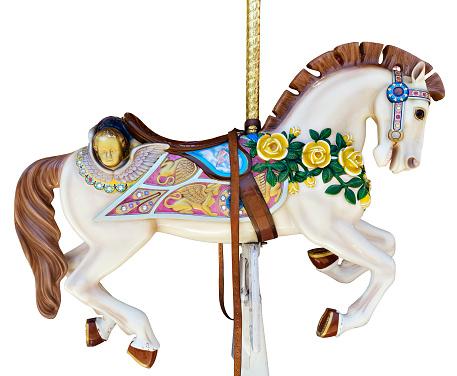 Horse「Carousel horse with yellow roses」:スマホ壁紙(4)