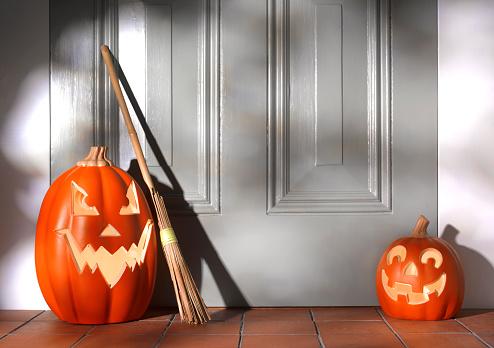 Mischief「Illuminated Halloween Pumpkins on doorstep」:スマホ壁紙(18)
