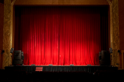Stage Theater「Illuminated empty theatre stage」:スマホ壁紙(18)