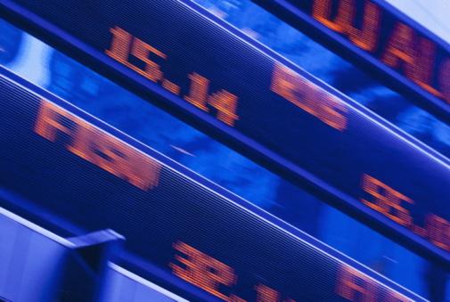 Tilt「USA, New York, New York City, stock ticker in Times Square」:スマホ壁紙(15)
