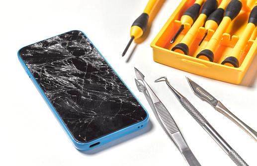 Tweezers「Smashed/broken mobile phone repair」:スマホ壁紙(4)